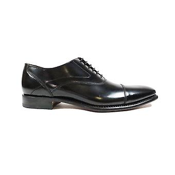 Loake Sharp Black Polished Leather Mens Oxford Shoes