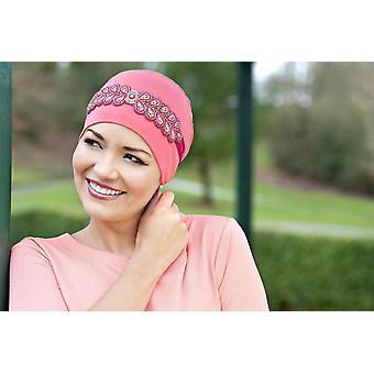 Pink Chemo Hat | Carolina Coral Diamond Crown