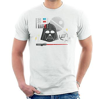 T-shirt dos homens de Star Wars Dark Lord Darth Vader ' s