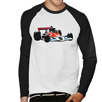 Motorsport Bilder James Hunt McLaren M26 1977 Herren's Baseball Langarm T-Shirt