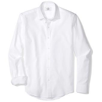 BUTTONED DOWN Men's Slim Fit Supima Cotton Spread-Collar Textured Dress Casua...