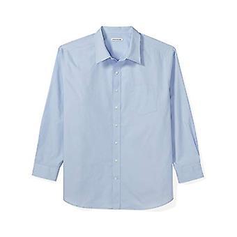 Essentials Men's Big & Tall Long-Sleeve Solid Casual Poplin Shirt fit ...
