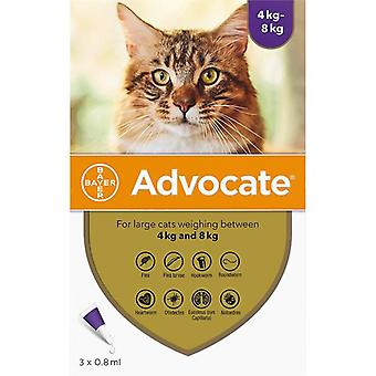 Advocate Cats Over 4kg (8.8lbs) - 3 Pack