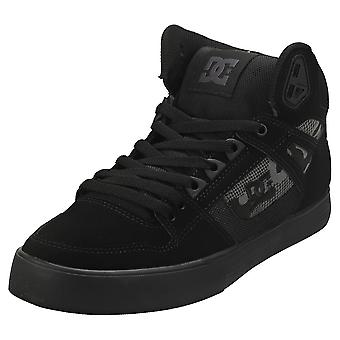 DC Shoes Pure High-top Wc Mens Casual Trainers in Black Camouflage