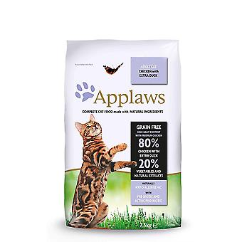 Applaws Dry Adult Cat - Huhn mit Extra Ente - 7.5kg