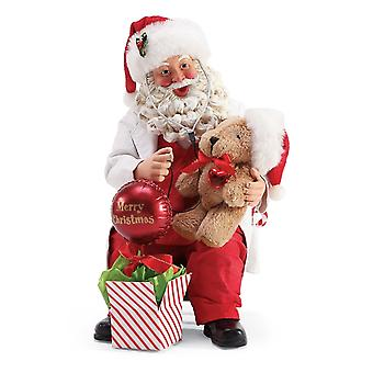 Santa Claus Well Care Visit With Sweet Plush Bear