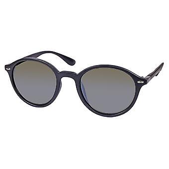 Sunglasses Unisex matt black with green lens (ml6623)