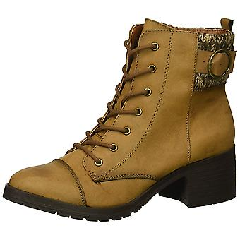 Rampage Women's Shoes Krista Leather Almond Toe Ankle Fashion Boots