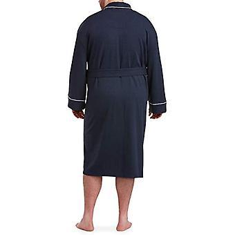 Essentials Men's Big & Tall Lightweight Shawl Robe Sleepwear, -Navy, 1...
