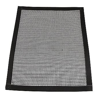 Square Hemming Barbecue Grill Grid Mats 33x40cm Black
