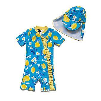 Bonverano Baby Mädchen ein Stück Sonnenschutz Kurzarm Reißverschluss Badeanzug