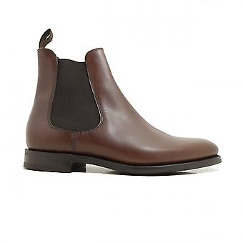 Loake Wickstead Brown Waxy Leather Mens Chelsea Pull On Boots