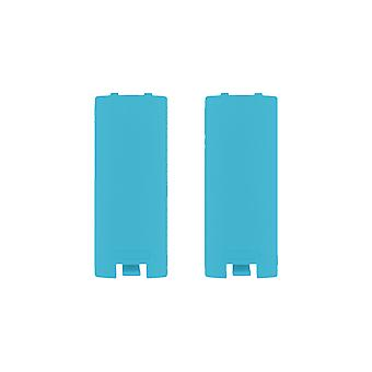 Battery cover for wii & wii u remote nintendo controller cover back - 2 pack blue | zedlabz