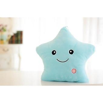 34cm Luminous Pillow Soft Stuffed Plush Glowing Stars Cushion Led Light Toys Kids Children Girl Gift