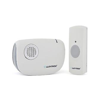 Lloytron Dingdong MIP3 Battery Operated Portable Door Chime Kit White (B7030WH)