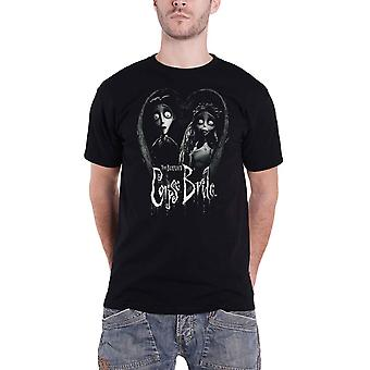 Corpse Bride T Shirt Bride And Groom Logo new Official Mens Black