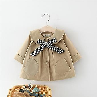 Newborn Baby Autumn Winter Plaid Bow Coat Infant Clothes For Girls Clothing Outwear