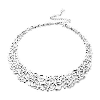 LucyQ Splash Necklace Size 20 in Rhodium Plated Sterling Silver