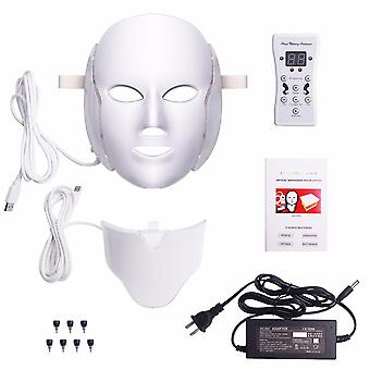 Led Facial Mask Acne Neck Beauty Therapy Machine 7 Colors Light