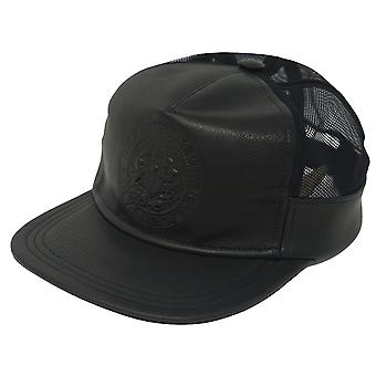 Balmain Leather Logo Black Cap