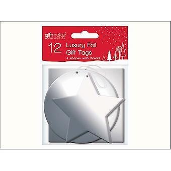 Anker Foil Cadou Tag-uri de argint x 12 XTNSIL