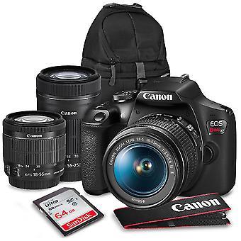 Canon t7 eos rebel DSLR kamera med EF-s 18-55mm f/3.5-5.6 er ii og 55-250mm F4-5.6 er stm linser + uv filter kit & 32GB dobbelt sd-kort bundt