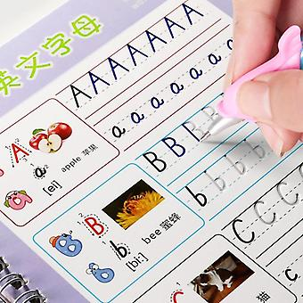 Reusable English Alphabet Copybook, Drawing Toys, Hand Writing Groove Auto