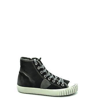 Philippe Model Ezbc019074 Men's Black Fabric Hi Top Sneakers