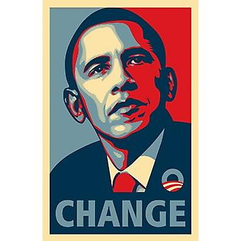 Affiche de la campagne d'Obama RARE - affiche de cinéma de CHANGEMENT (11 x 17)
