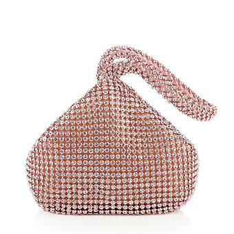 Women Girls Triangle Rhinestones Evening Clutch Party Prom Bag