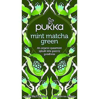 Pukka Organic Mint Matcha Green Tea 30g (20's) x4