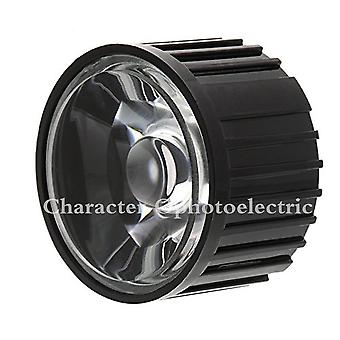 Led-lens met zwarte houder voor 1w 3w 5w High Power Led Lamp Light