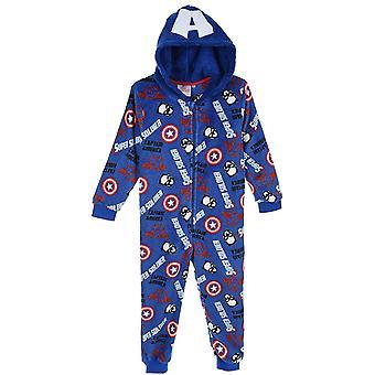 Ragazzi TH2157 Marvel Avengers Felpa con cappuccio Sleepsuits / Pigiama monopezzi