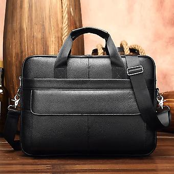 Westal Men's Briefcase Bag Men's Genuine Leather Laptop Bag Business Tote