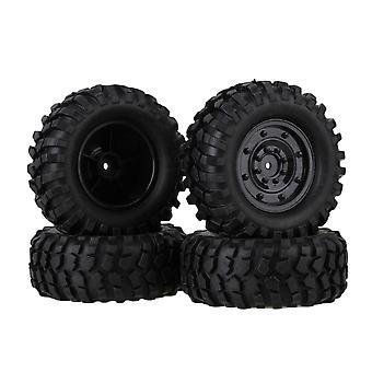 4PCS Black Plastic Imitate Wheel 96mm Dia Rubber Tyre for RC 1:10 Rock Crawler
