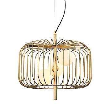 Italux Daren - Moderno pendente appeso Golden 3 Light con oro, tonalità bianca, G9