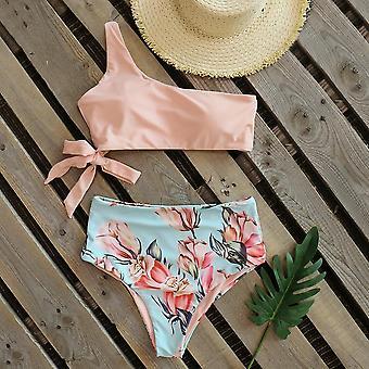 Sexy New One Shoulder Swimwear High Waist Bandage Bathing Beach Female