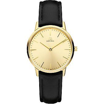 Dänisches Design Akilia Uhr - schwarz/Gold