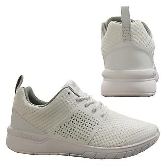 Supra Scissor Lace Up Mens Casual Running Trainers White 05669 101 U95