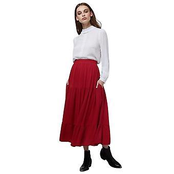 Louche Womens Leonora Tie Midi Skirt Red