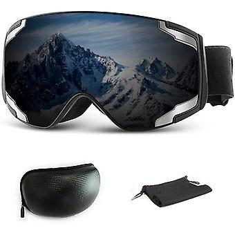Extra Mile Ski Goggles, 2020 Spliced Lens Anti Fog & OTG Snowboard Snowmobile Goggles