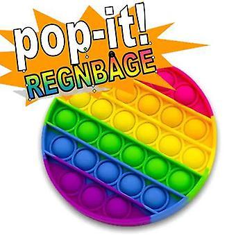 Pop It Fidget Toy Original - Rainbow Round - CE Goedgekeurd