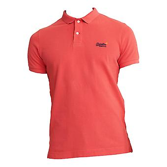 Superdry Classic Pique Short Sleeve Polo Shirt - Grapefruit Twist
