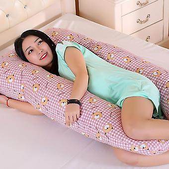Cotton Rabbit Print U Shape Maternity Side Sleepers Sleeping Support Pillow