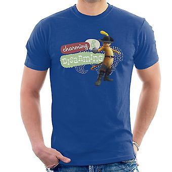 Shrek Puss saappaat viehättävä ja aseistariisuva Men's T-paita