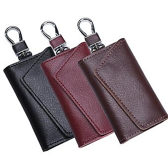 Leather Key Holder Organizer Pouch