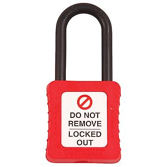 Martindale PAD20R Padlock Insulated Shackle Red