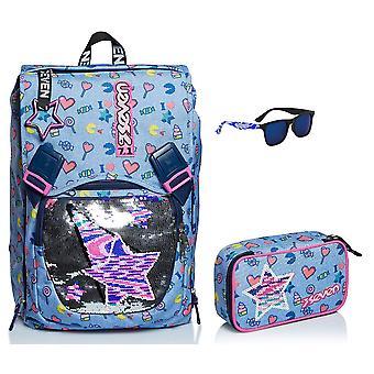 School Kit - Zeven Uitschuifbare RUGZAK + QUICK CASE CASE CASE + ZONNEBRIL - STARRY RAINBOW