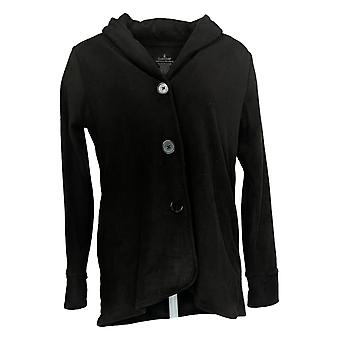 Cuddl Duds Women's Button Front Cardigan Black A369667