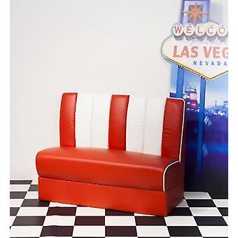 Chicago 50'S Booth Chair Bench Ing Red White